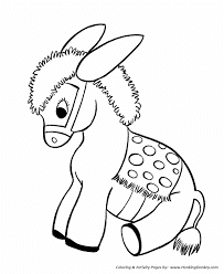 Cute Donkey Coloring Pages For Print Ideas