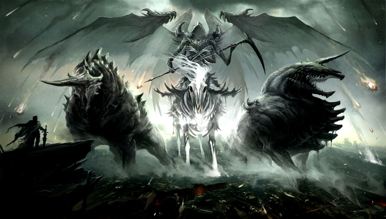 Horsemen Of Apocalypse Armageddon Beasts Creative Wallpaper
