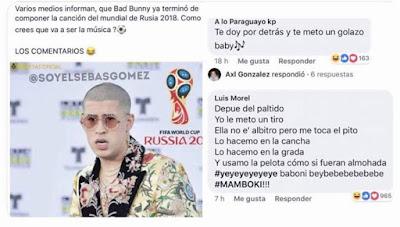 Bad Bunny terminó de componer la canción del mundial de Rusia 2018