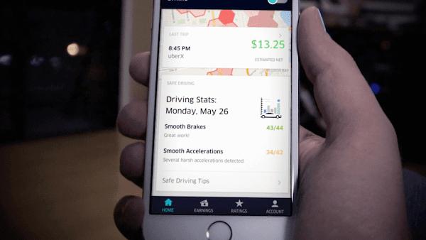 受不了司機老是急煞、暴衝?Uber司機專用App新增追蹤功能,提升乘坐安全