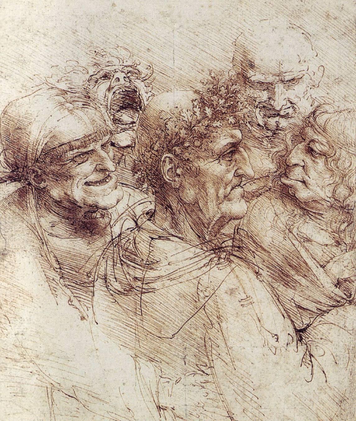 Leonardo  da  Vinci  Grotesque  Heads C