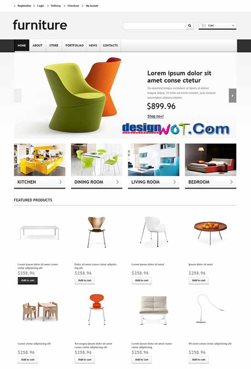 FurnitureWoo Responsive Furniture WordPress Store