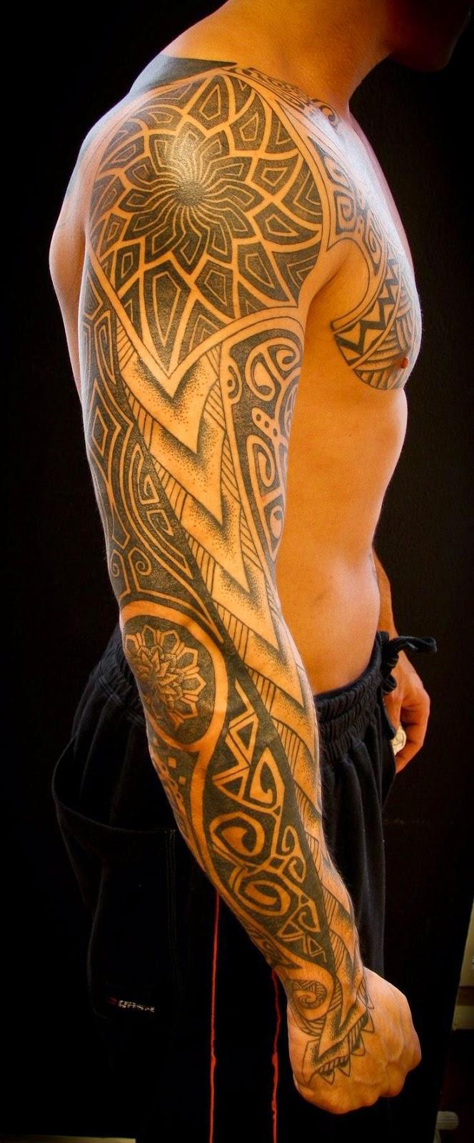 Chest To 1 4 Sleeve Koi Fish And Lotus Tattoo: Sleeve Tattoos