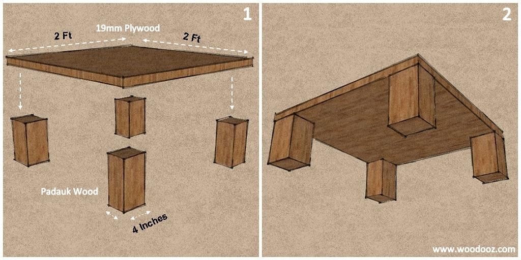 the easiest diy center table you can ever build indian woodworking diy arts crafts blog. Black Bedroom Furniture Sets. Home Design Ideas