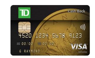 Td Visa Cards >> Rewards Canada Td Cash Back Visa Infinite Card 6 Cash