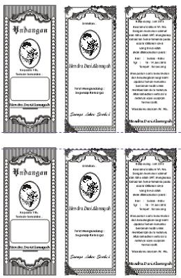 download contoh undangan khitan lipat 3 hvs bagi 2 format cdr