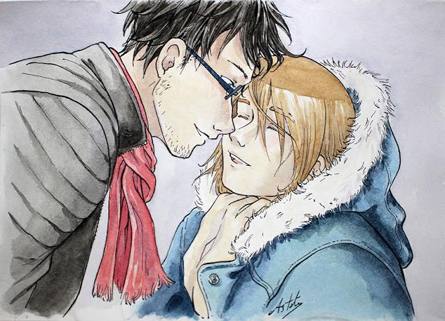 Matt et Lancelot - dessin à la plume et à l'aquarelle