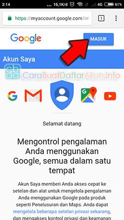 Contoh Cara Buat Alamat Email Pemulihan Untuk Akun Google Cara