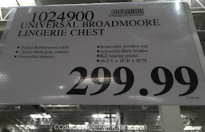 Deal for the Universal Furniture Broadmoore Lingerie Chest at Costco