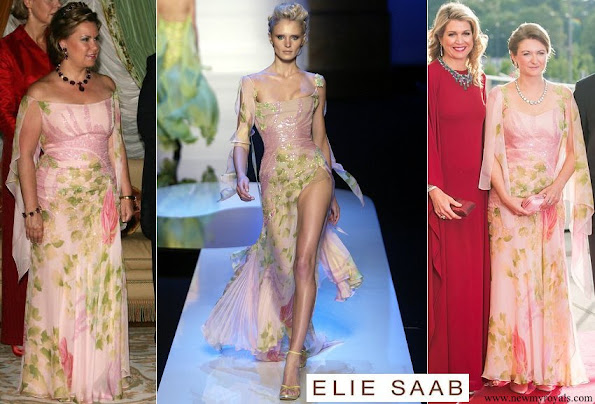 Maria Teresa and Princess Stephanie wore Elie Saab Gown from Elie Saab Spring 2004 Couture Collection