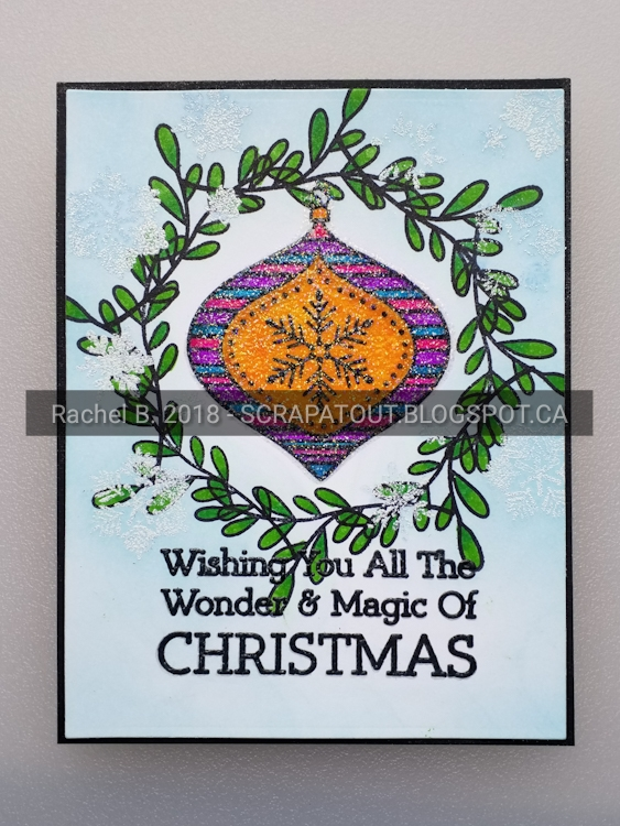 Hero Arts, Wreath builder, Handmade Gard, Christmas