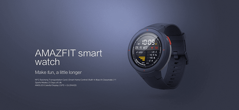 Huami announces Amazfit Verge smartwatch with round AMOLED screen on a budget!