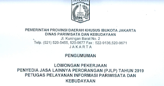Lowongan Kerja Dinas Pariwisata dan Kebudayaan DKI Jakarta