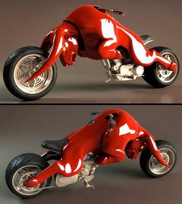 Moto roja con toro de redbull