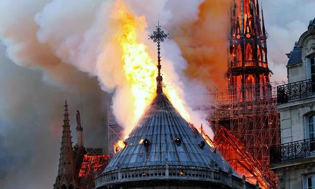Incendio en París - Catedral de Notre Dame