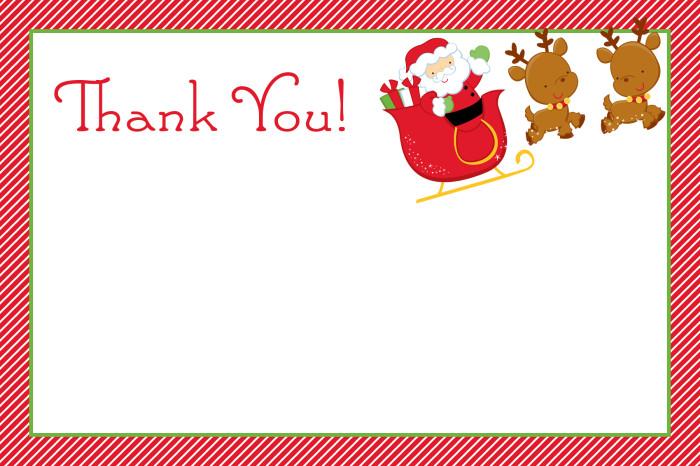 Christmas Thank You Cards - Slim Image