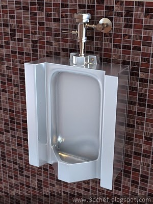 Urinal 3ds Max Model