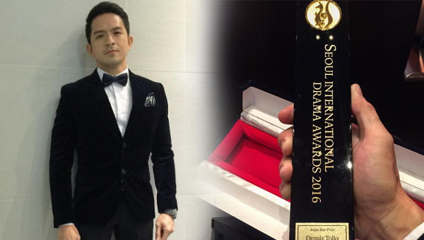 Dennis Trillo awarded the Asian Star prize at the 2016 Seoul International Drama Awards