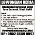 Karyawan Jasa cuci mobil - Info loker : 04 Oktober 2016