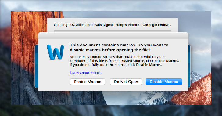 mac macro malware