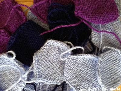 Knitted blanket hexagons