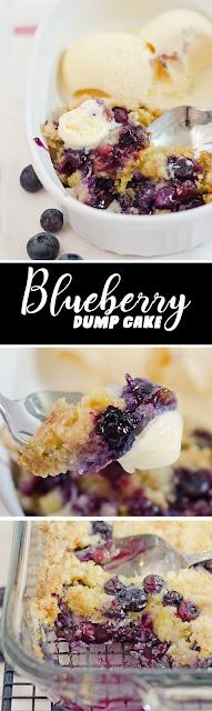 Blueberry Dump Cake For Dessert Recipe