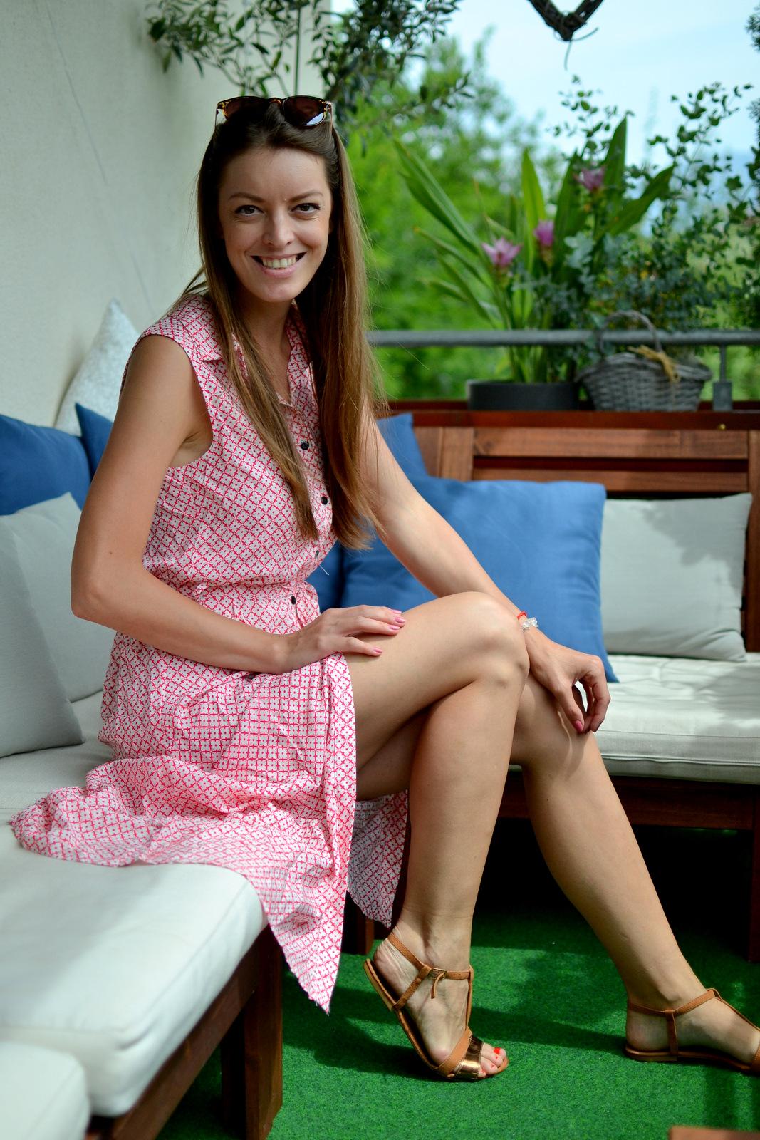 button down long dress