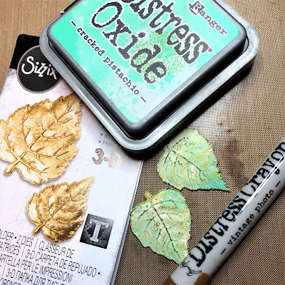 Frilly and Funkie https://frillyandfunkie.blogspot.com/2019/04/saturday-showcase-seth-apters-baked.html Spring Card Tutorial with Tim Holtz 3D Embossing Seth Apter Baked Velvet by Sara Emily Barker 10