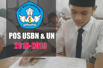 POS USBN dan POS UN Tahun Pelajaran 2018-2019