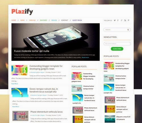 Plazify Responsive Blogger Template