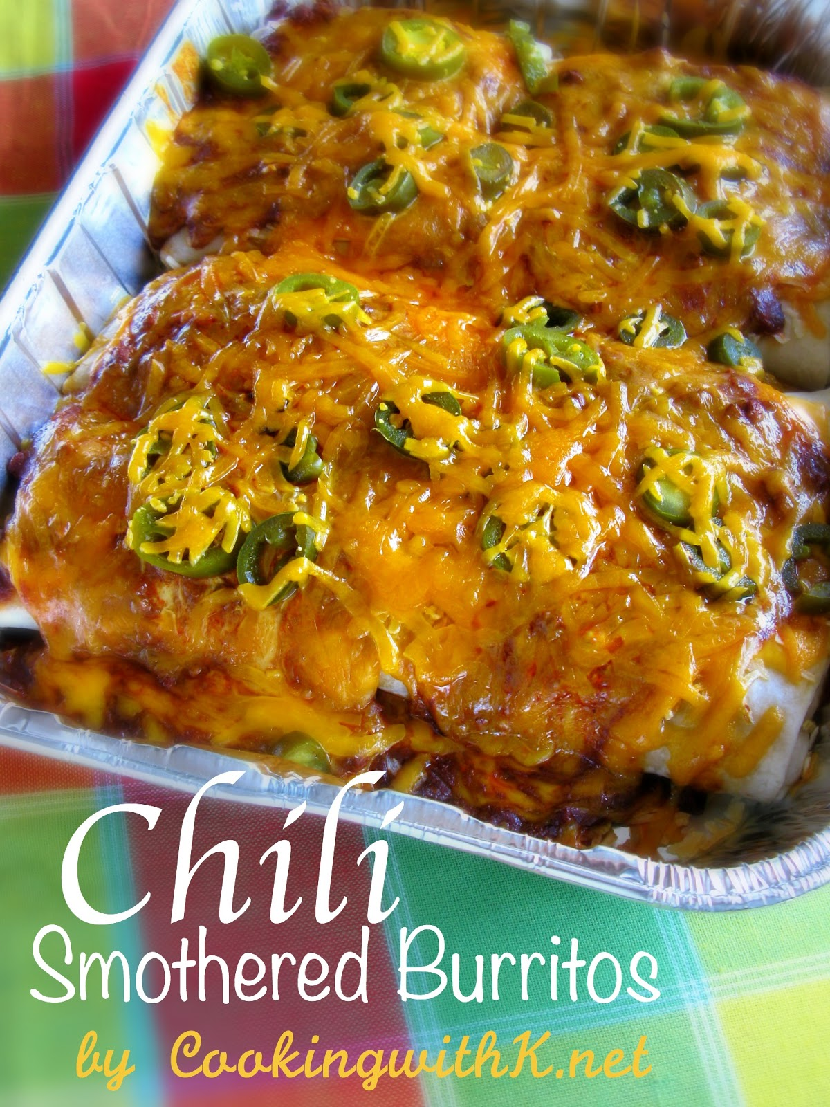 cooking with k chili smothered burritos using el
