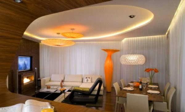 20 luxury false ceiling designs made of pvc gypsum board. Black Bedroom Furniture Sets. Home Design Ideas
