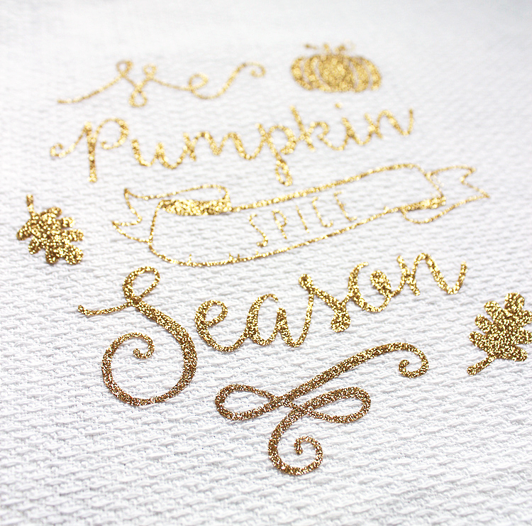 Pumpkin Spice Season Tea Towel DIY