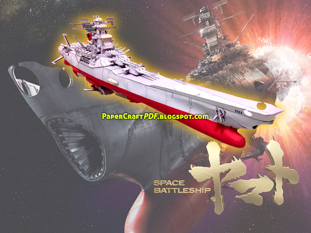 Download Space Battleship Yamato Papercraft Model Template pdf pdo jpg png img paper craft model template download online