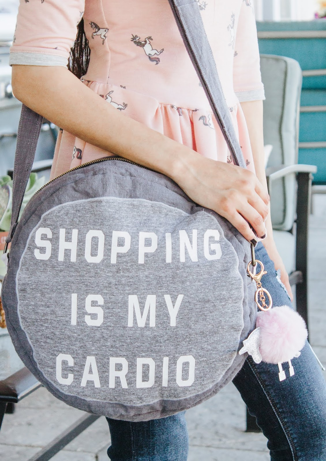 shopping is my cardio bag close up