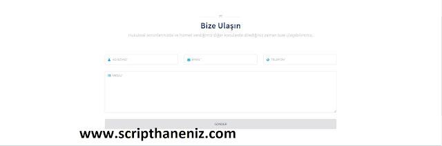 Avukat Script'i İletişim Sayfası