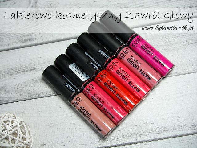Kobo matowe szminki w płynie Liquid Matte Lipstick