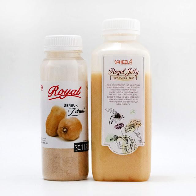 Paket Promil Serbuk Buah Zuriat 100 gr + Royal Jelly 500 g