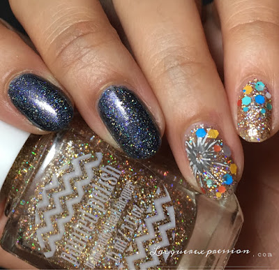 diy fireworks new year's nail art manicure tutorial