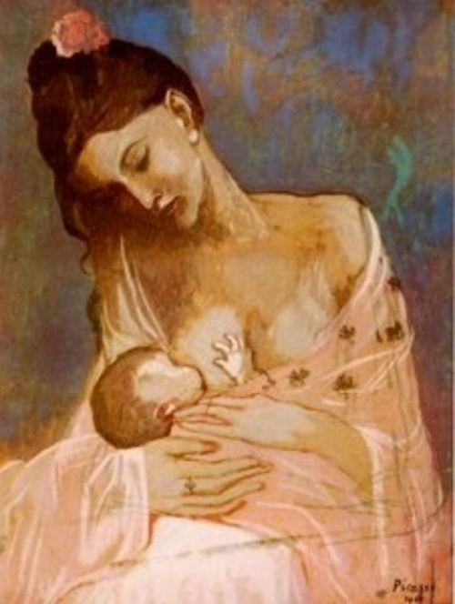 Maternidade, pintura de Picasso. #PraCegoVer