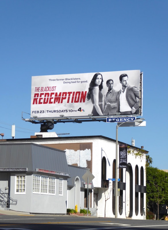 Blacklist Redemption season 1 billboard