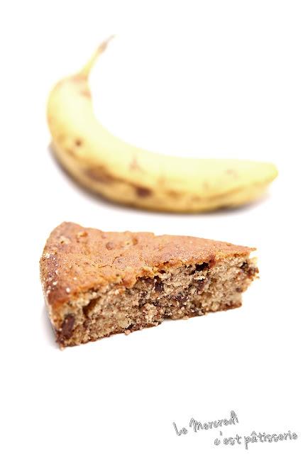 Gâteau chocolat - banane