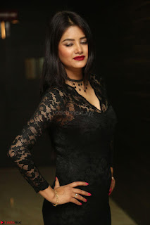 Actress Monica in spicy transparent Black Top at O Pilla Nee Valla Movie Audio Launch Feb 2017 106.JPG