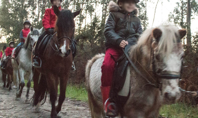Salida a caballo en un cumpleaños infantil