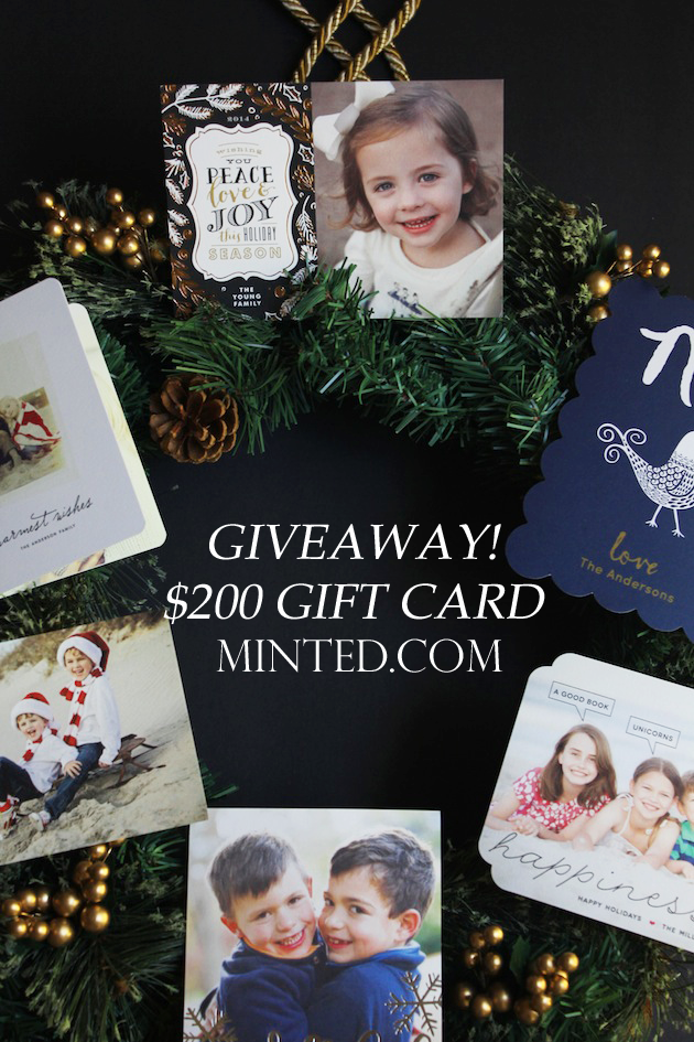 $200 Giveaway | Minted.com via Savor Home