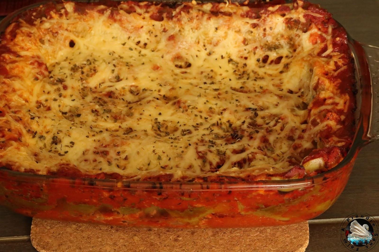 Lasagnes épinards tomates et thon