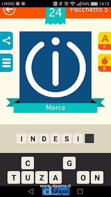 Iconica Italia Pop Logo Quiz soluzione pacchetto 5 livelli 24-75