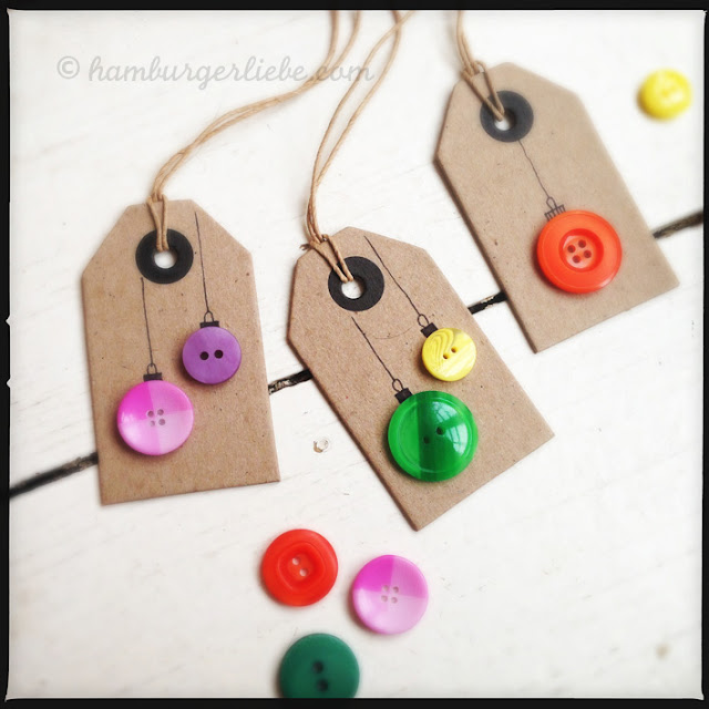 ornament button gift tags