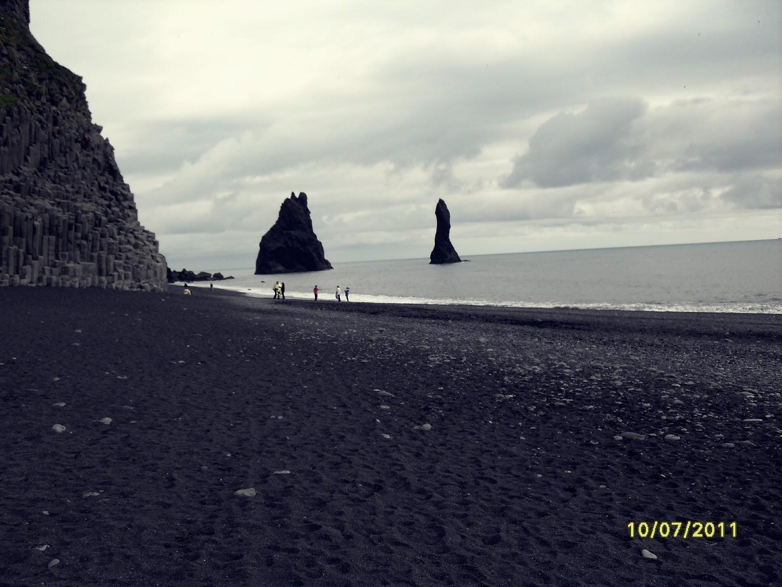 Reynisfjara, plaża Reynisfjara, islandzka plaża, czarna plaża, Islandia, południowa Islandia