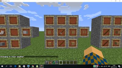 minecraft crafting kerítés